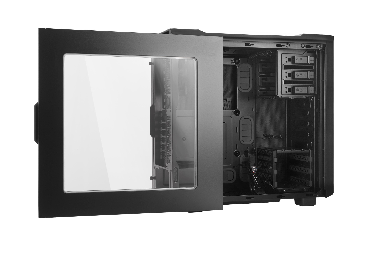 Silent Base 600 case (High End, zwart, met venster)