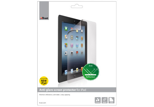 Anti-glare screen protector for iPad