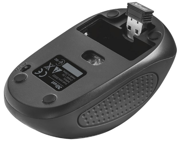 Primo Wireless Mouse (1600 dpi, zwart)