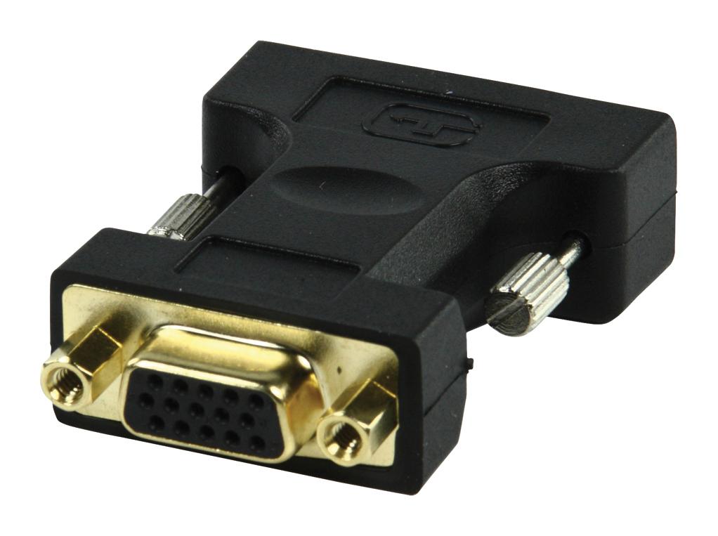Adapter VGA/DVI : DVI-I M naar VGA F