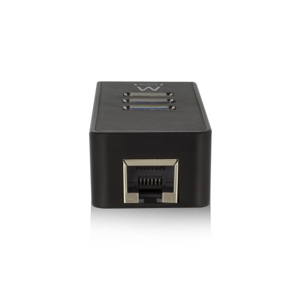 EW1140 Network adapter (USB 3.1, Gigabit Ethernet + 3 x USB 3.1 poorten, zwart)