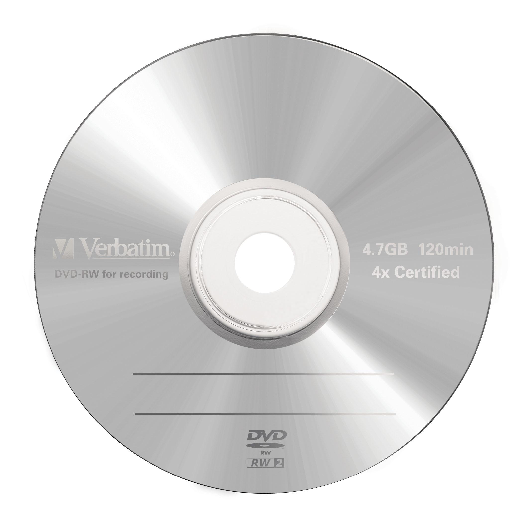DVD-RW 4,7 GB 4 speed (Advanced SERL, 5-pack jewelcase)