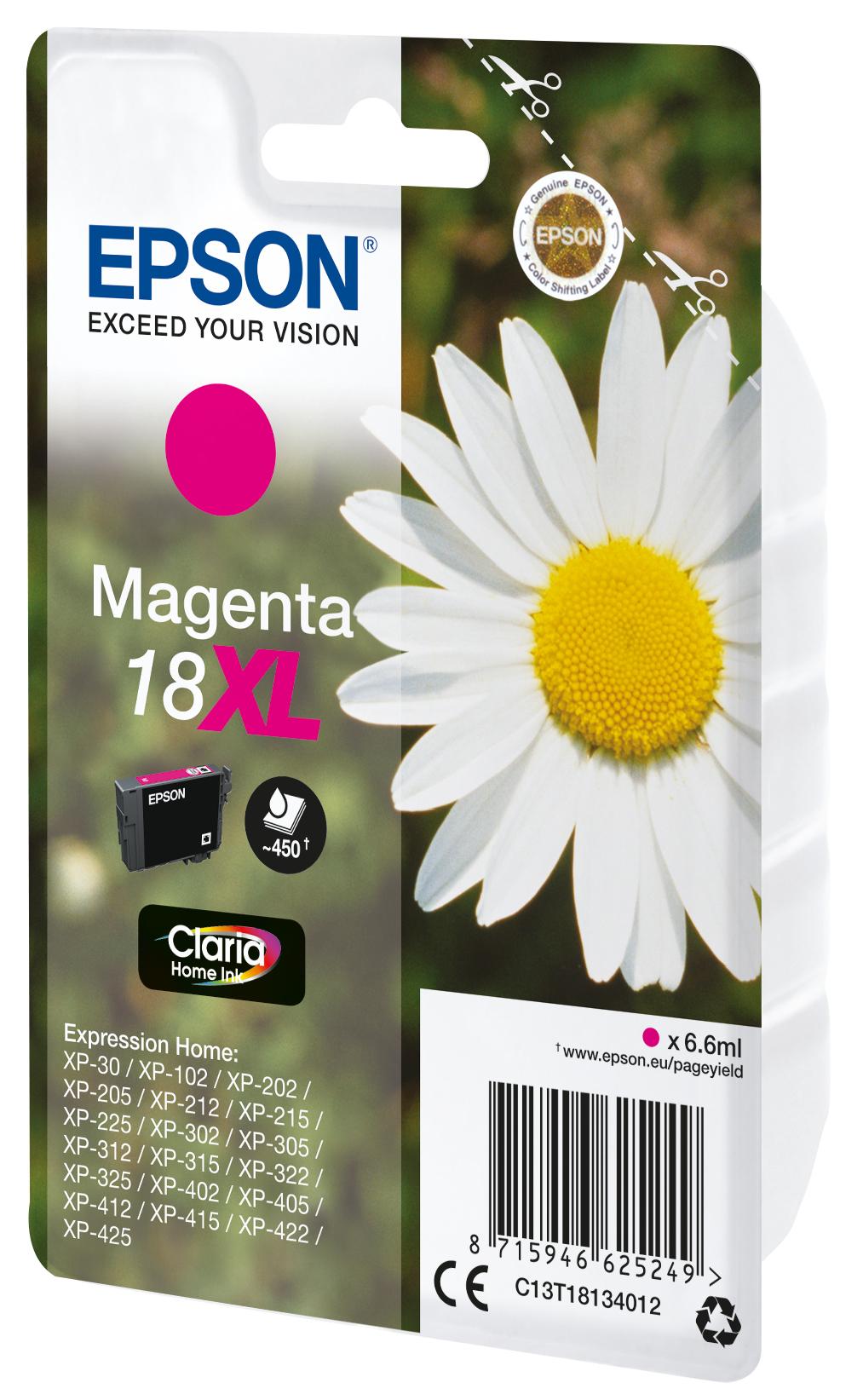 T1813 inkjetcartridge 18XL magenta (450 afdrukken)
