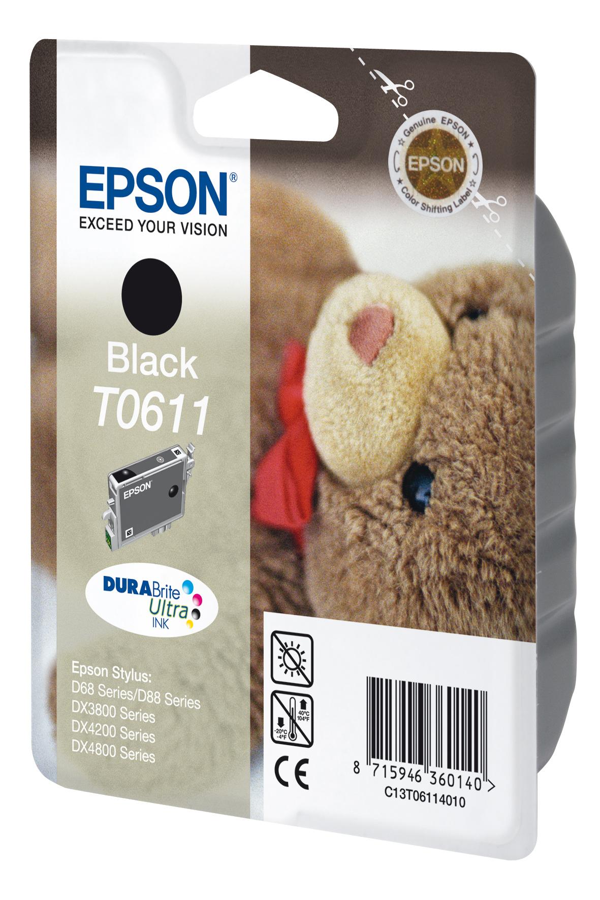 T0611 inkjetcartridge zwart