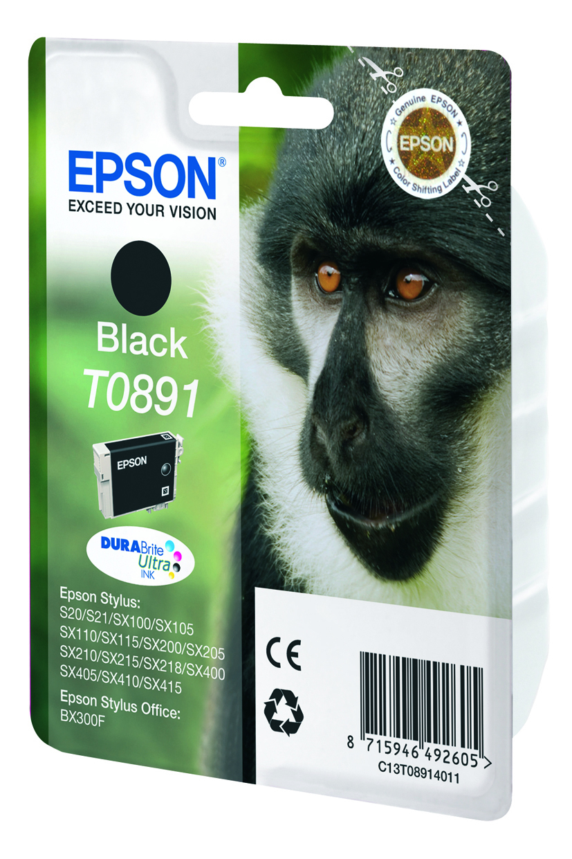 T0891 inkjetcartridge zwart