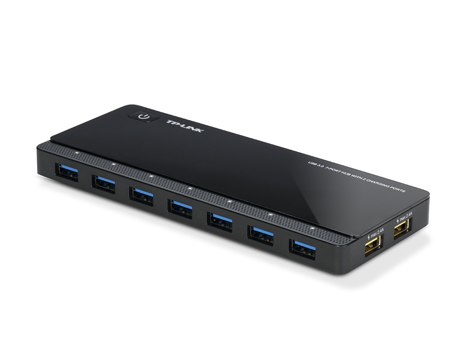 UH720 7-poorts USB 3.0 Hub (2 power charge poorten, incl. stroomadapter)