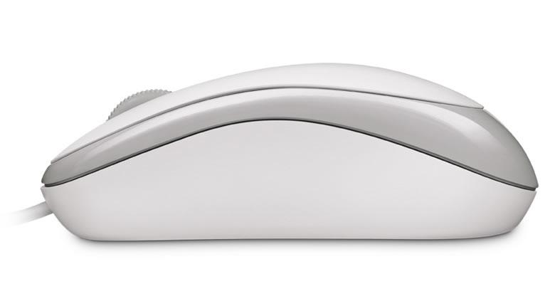 Basic Optical Mouse (3 knoppen, USB, wit)