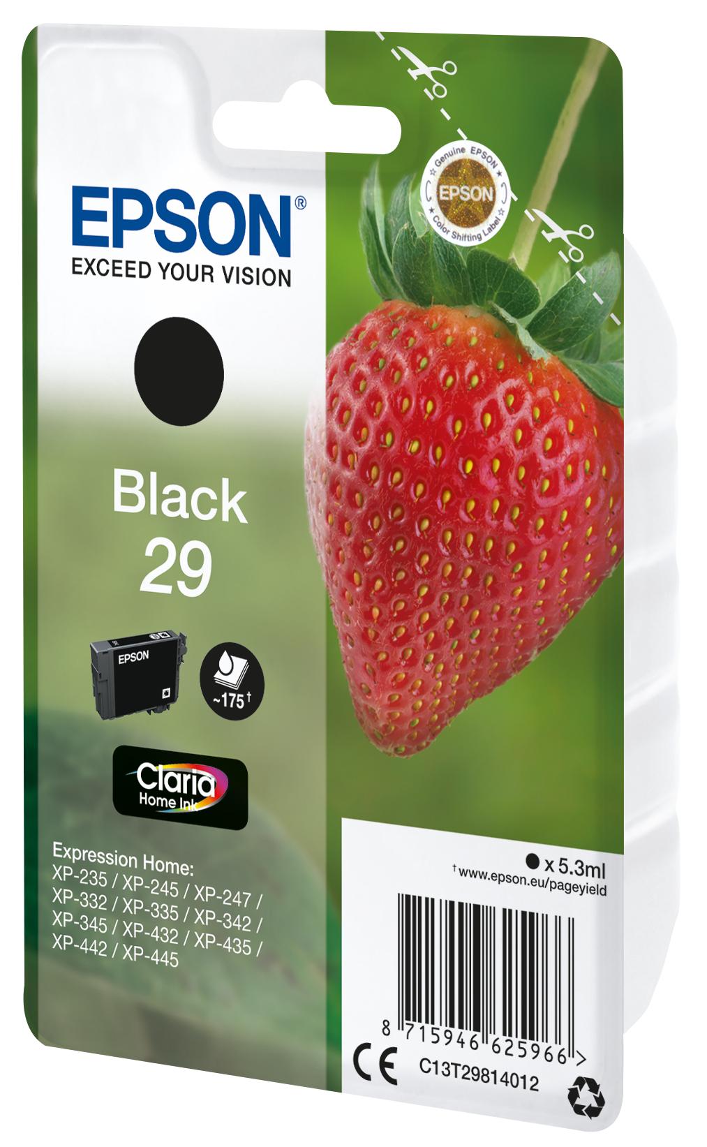 T2981 inkjetcartridge 29 zwart (175 afdrukken)