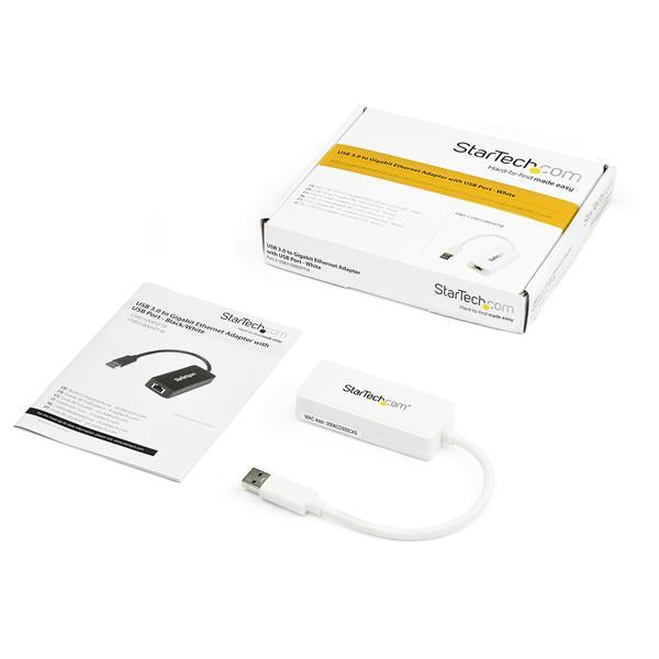 USB 3.0 naar Gigabit Ethernet Adapter (wit)