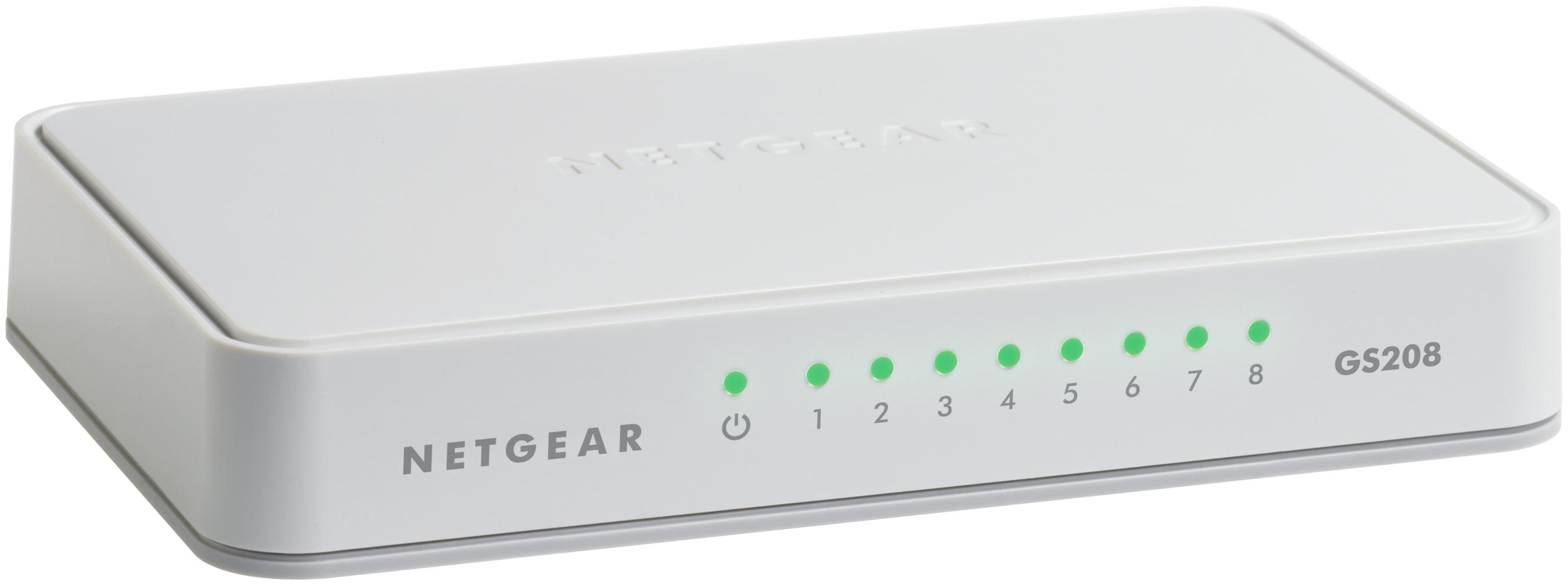 GS208-100PES Gigabit Ethernet Switch (8 poorten)