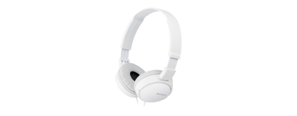 MDR ZX110 Headphones (full size, wit)