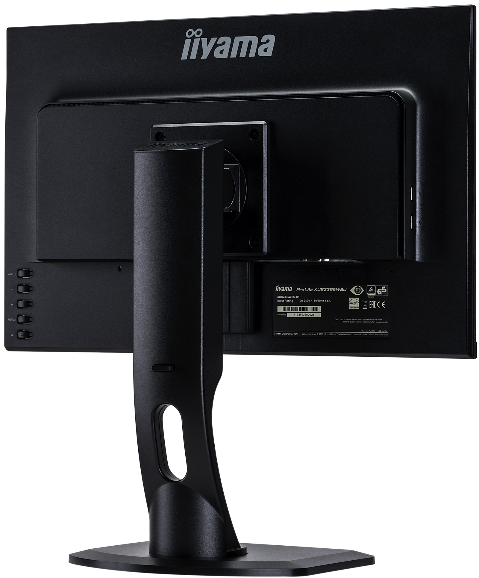 "ProLite XUB2395WSU-B1 LED 22,5"", 1920 x 1200 WUXGA, IPS, 1000:1, 4 ms, HDMI, VGA, DisplayPort, speakers, zwart"