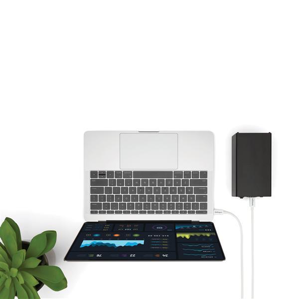 Thunderbolt 3 kabel (20 Gbps, USB-C DP, 4K support, 2 meter, wit)