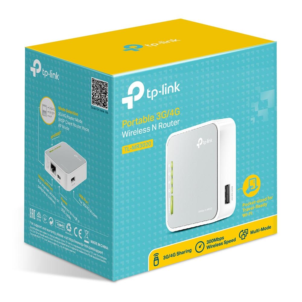 TL-MR3020 Portable 3G Wireless N Router (150 Mbps, UMTS, HSPA, EVDO, 3G/WAN failover)