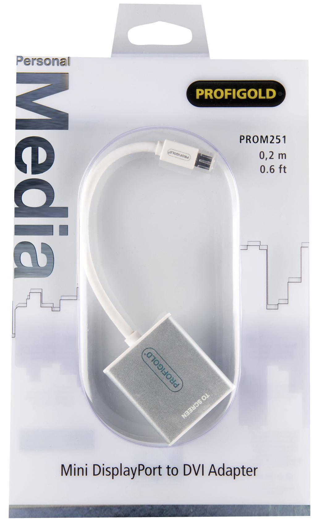 Mini DisplayPort to DVI Adapter  (0,2 meter, wit)