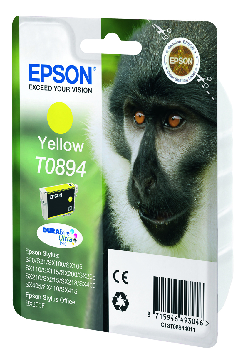 T0894 inkjetcartridge geel