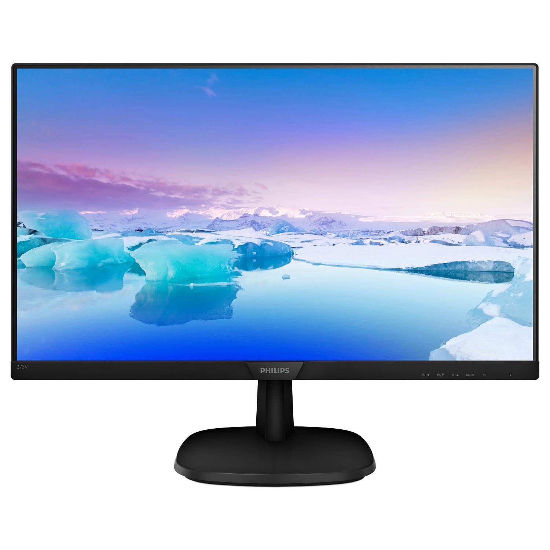 """V-line 273V7QDAB LED 27"""", 1920 x 1080 Full HD IPS, 1.000:1, 5 ms, HDMI, DVI-D, VGA, speakers, zwart"""