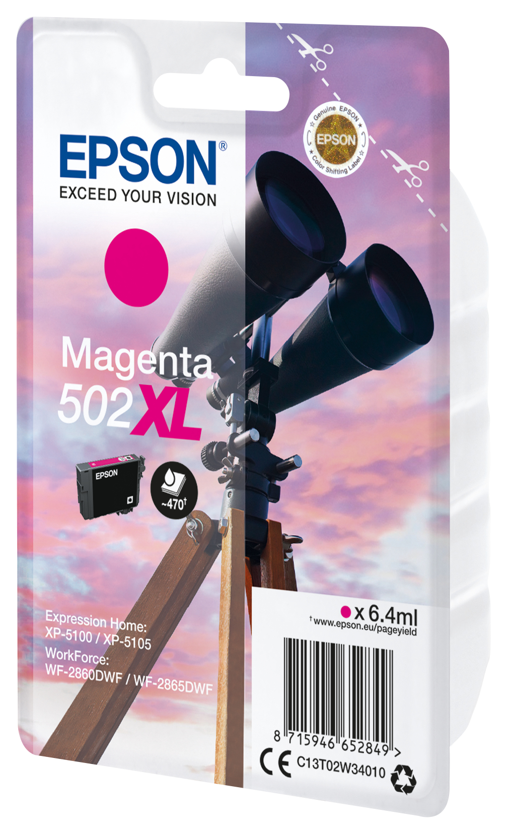T02W3 inkjetcartridge 502XL magenta (6,4 ml)