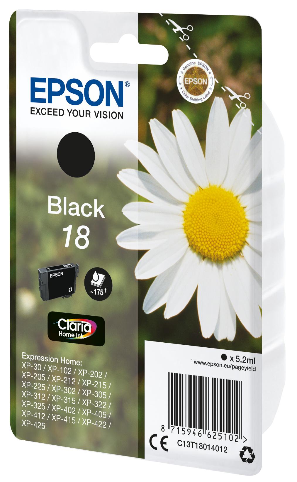 T1801 inkjetcartridge 18 zwart