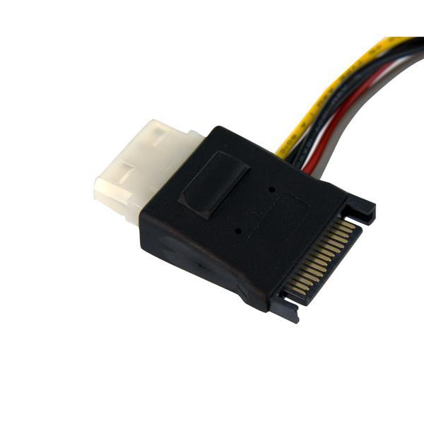 S-ATA naar LP4 met 2 x S-ATA voeding splitterkabel