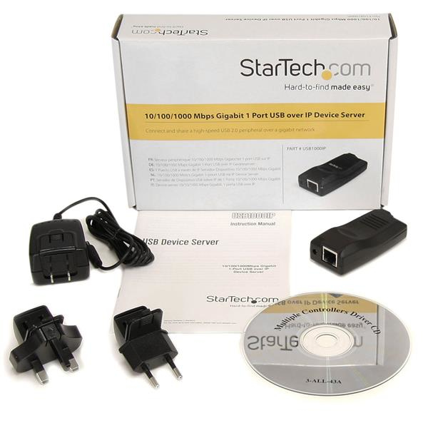 Gigabit USB IP Device Server (1 poort)