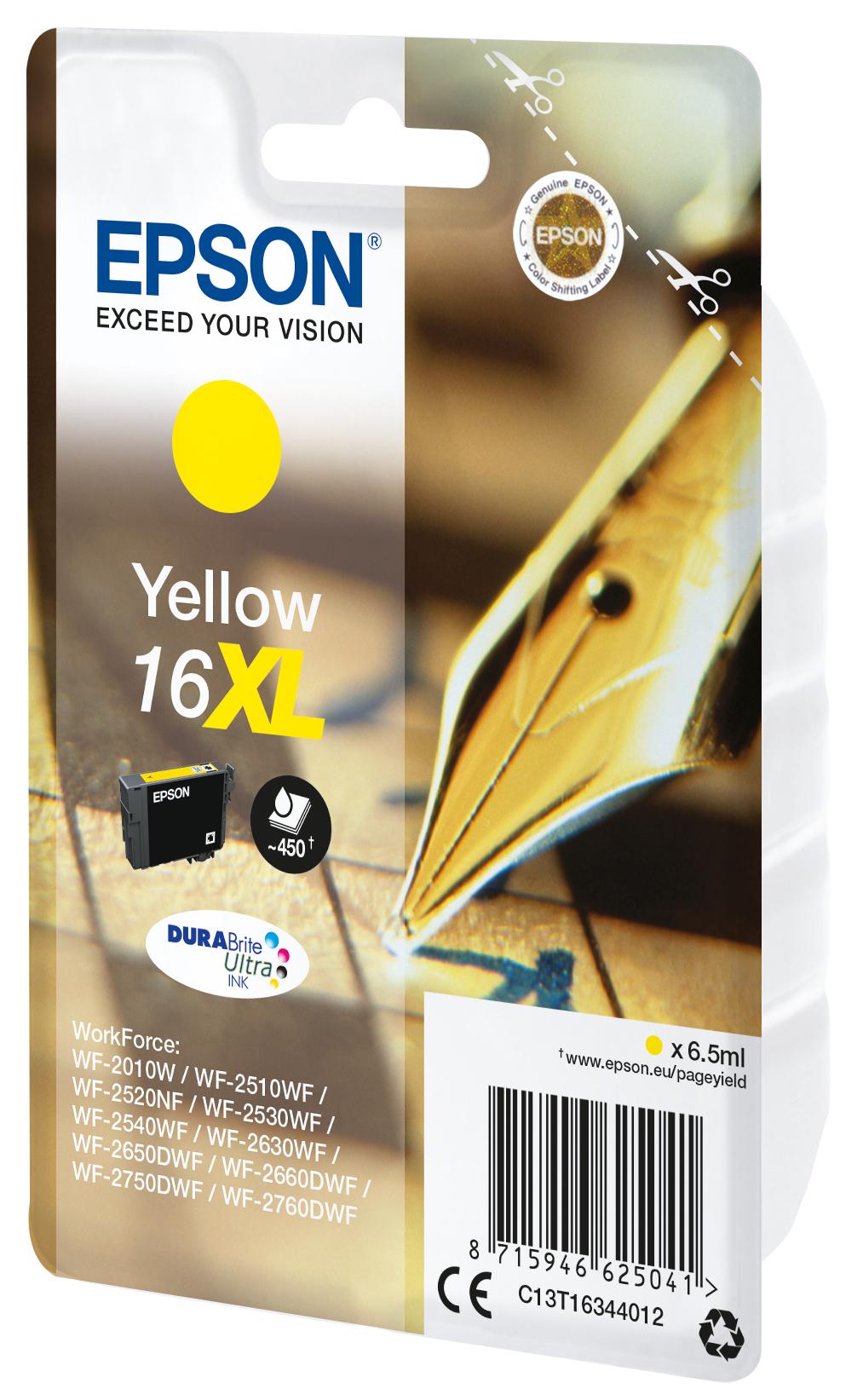 T1634 inkjetcartridge 16XL (6,5 ml, geel)