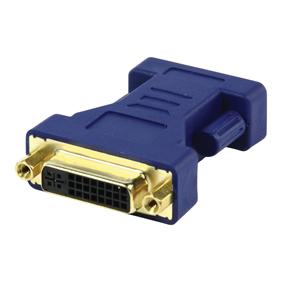 DVI adapter (DVI 24+5 F naar VGA 15-pin M, vergulde pluggen)