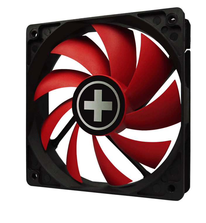 Performance C Fan (80 mm, rood met zwarte frame)