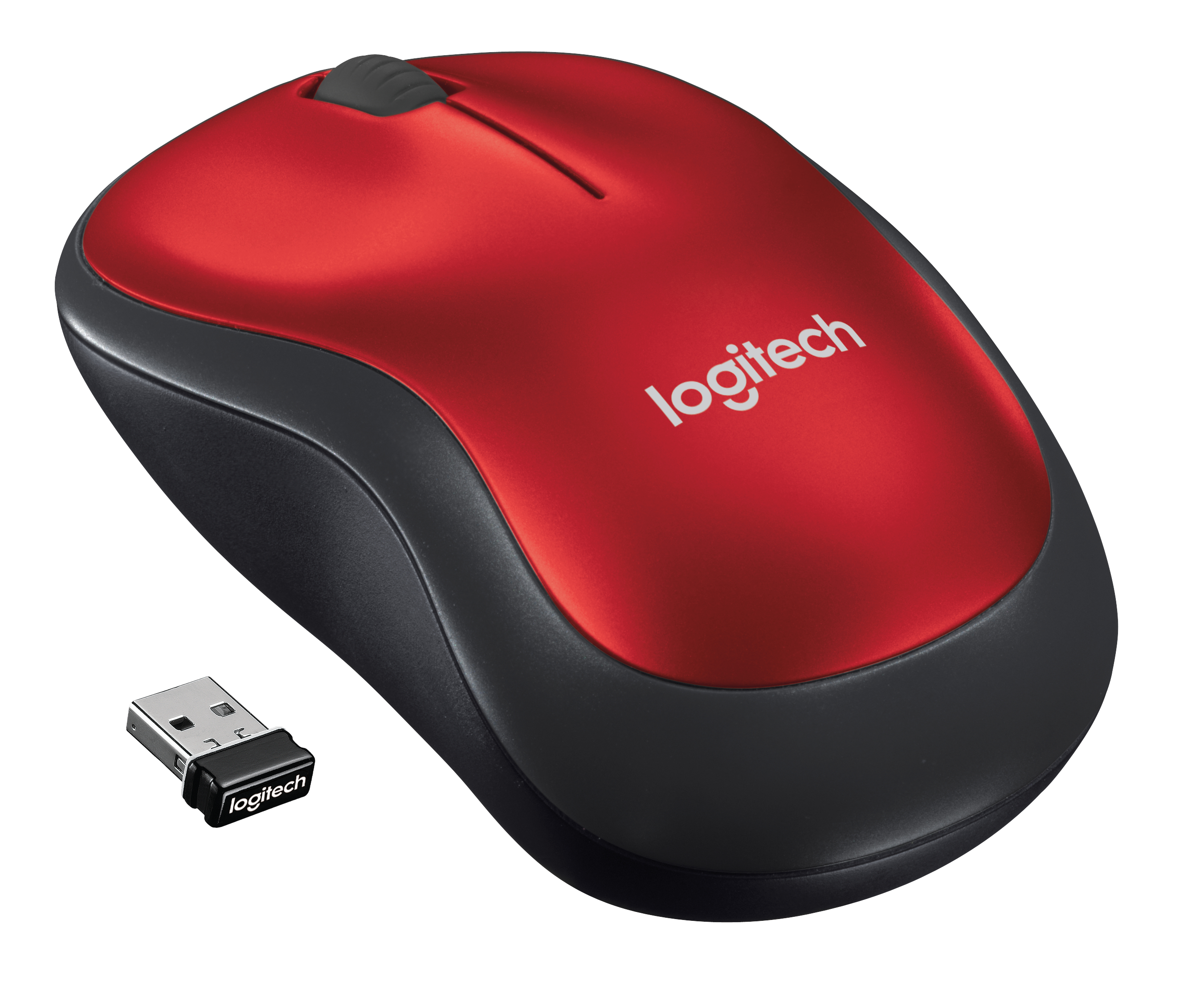 M185 Wireless Mouse (rood)
