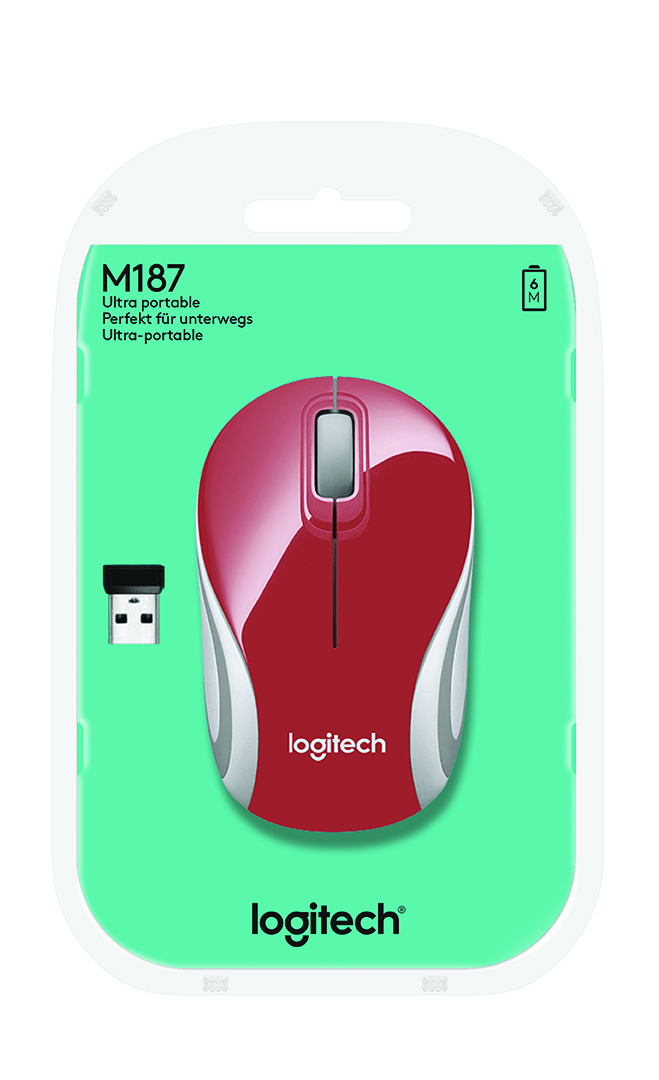 M187 Wireless Mini Mouse (rood)