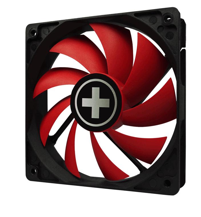 Performance C 120 mm fan (rood, met zwarte frame)