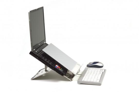 Ergo-Q 220 Notebook stand (met documentenhouder)