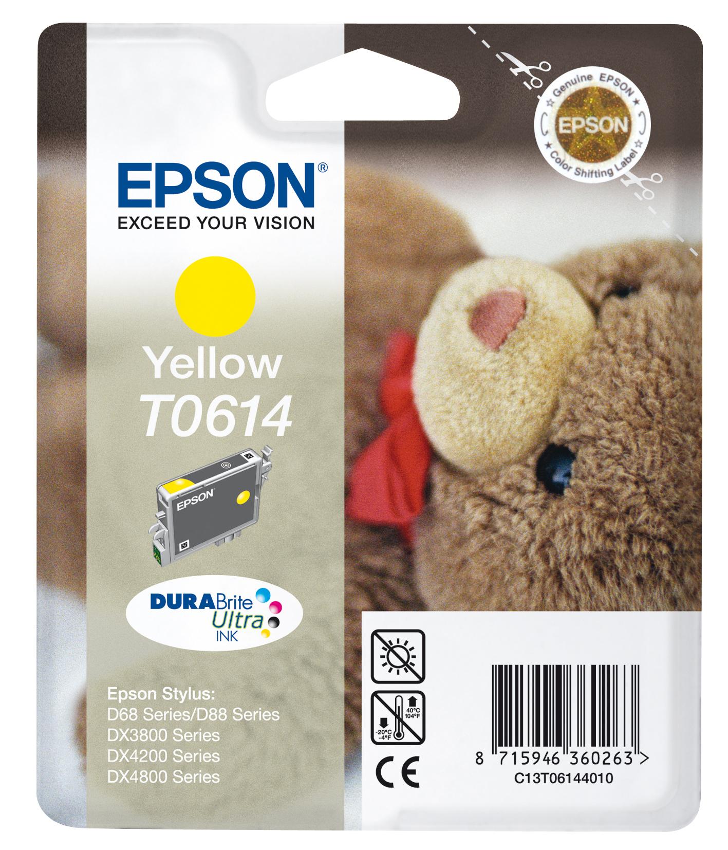 T0614 inkjetcartridge geel
