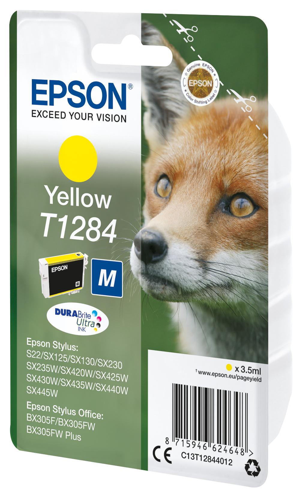T1284 inkjetcartridge geel (160 afdrukken)