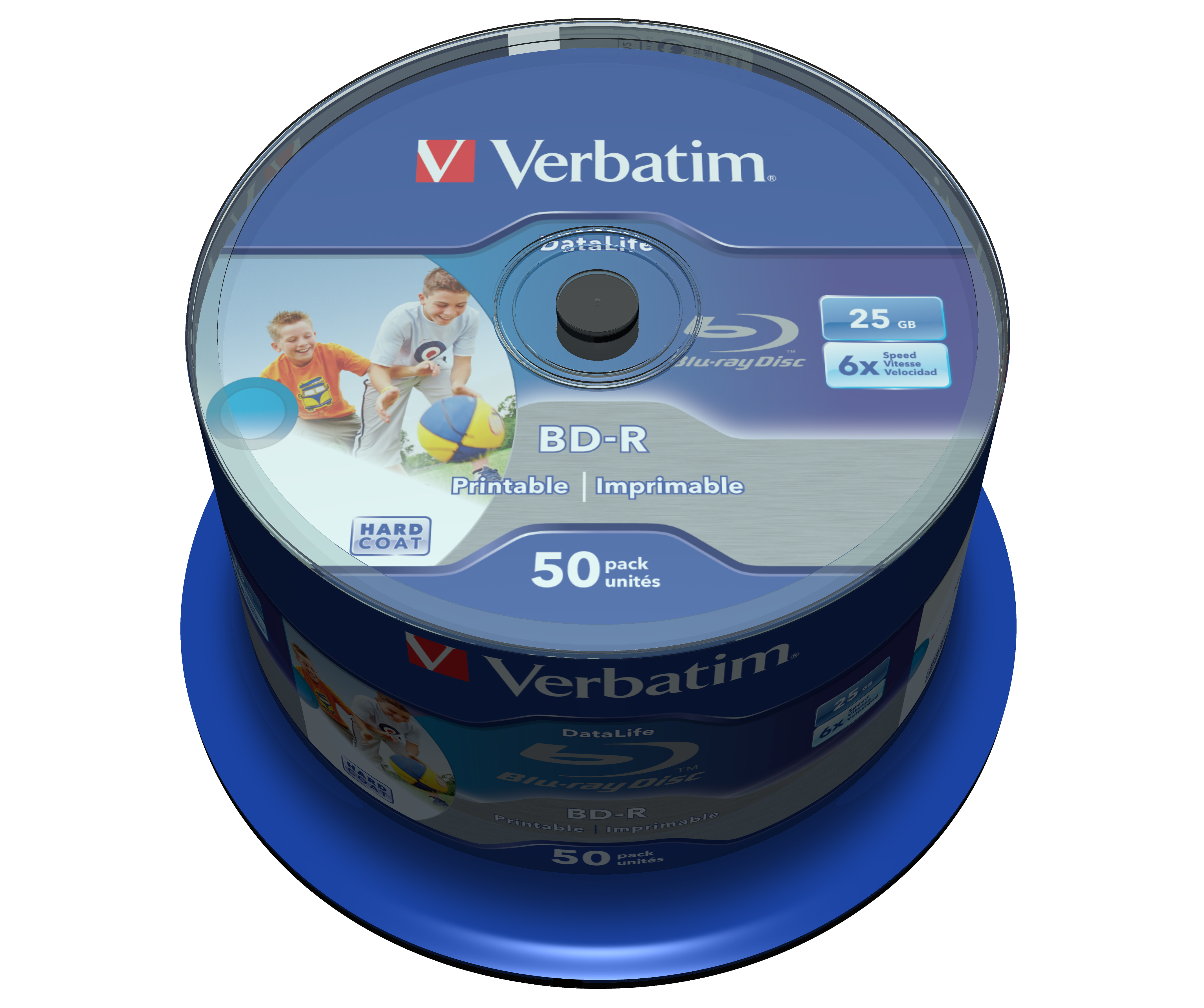 DataLife BD-R 25 GB, 6 speed (inkjet printable, 50-pack spindel)