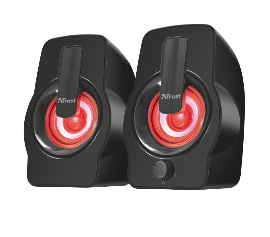 Gemi Speaker Set (12 Watt, met RGB LED verlichting, USB)