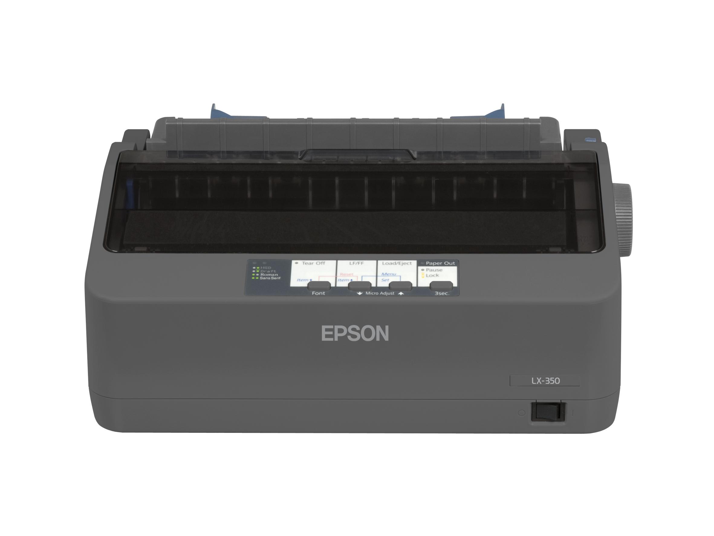 LX 350 Printer (monochrome, dot-matrix, 9 pin, 357 char/sec, parallel, USB, serieel)