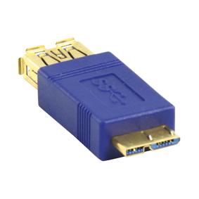 USB 3.0 adapter (USB A F naar micro USB M, vergulde pluggen)