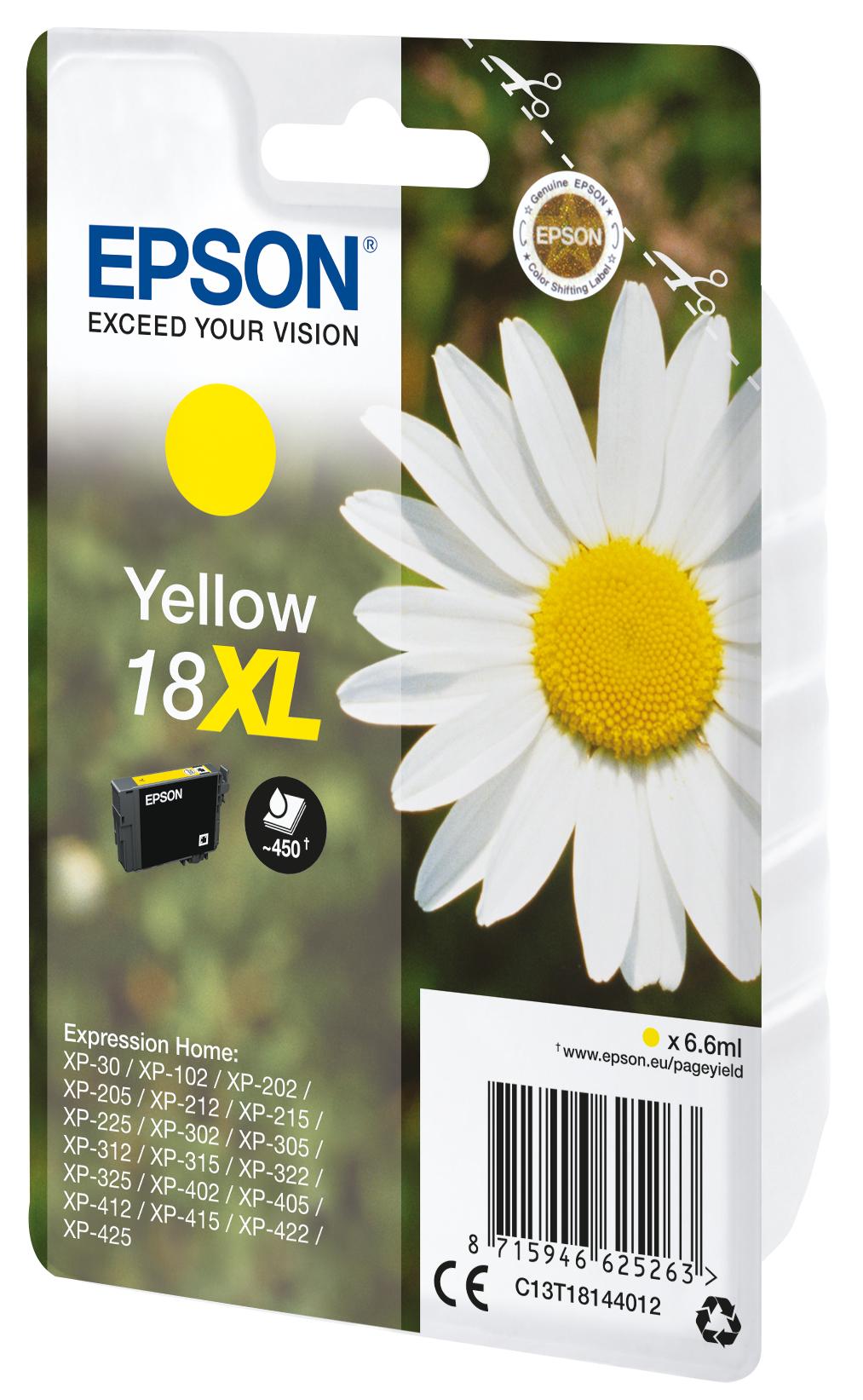 T1814 inkjetcartridge 18XL geel (450 afdrukken)