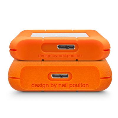 2000 GB Rugged Mini External Hard Drive (USB 3.0, oranje/zilver)
