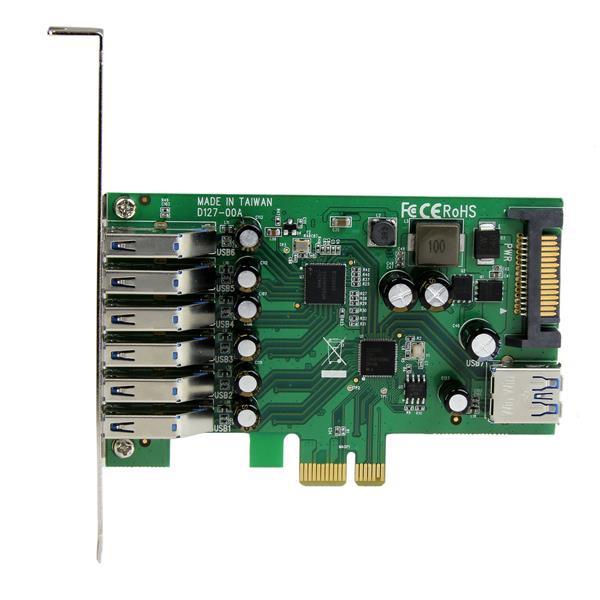 7-poort PCI Express USB 3.0 Card