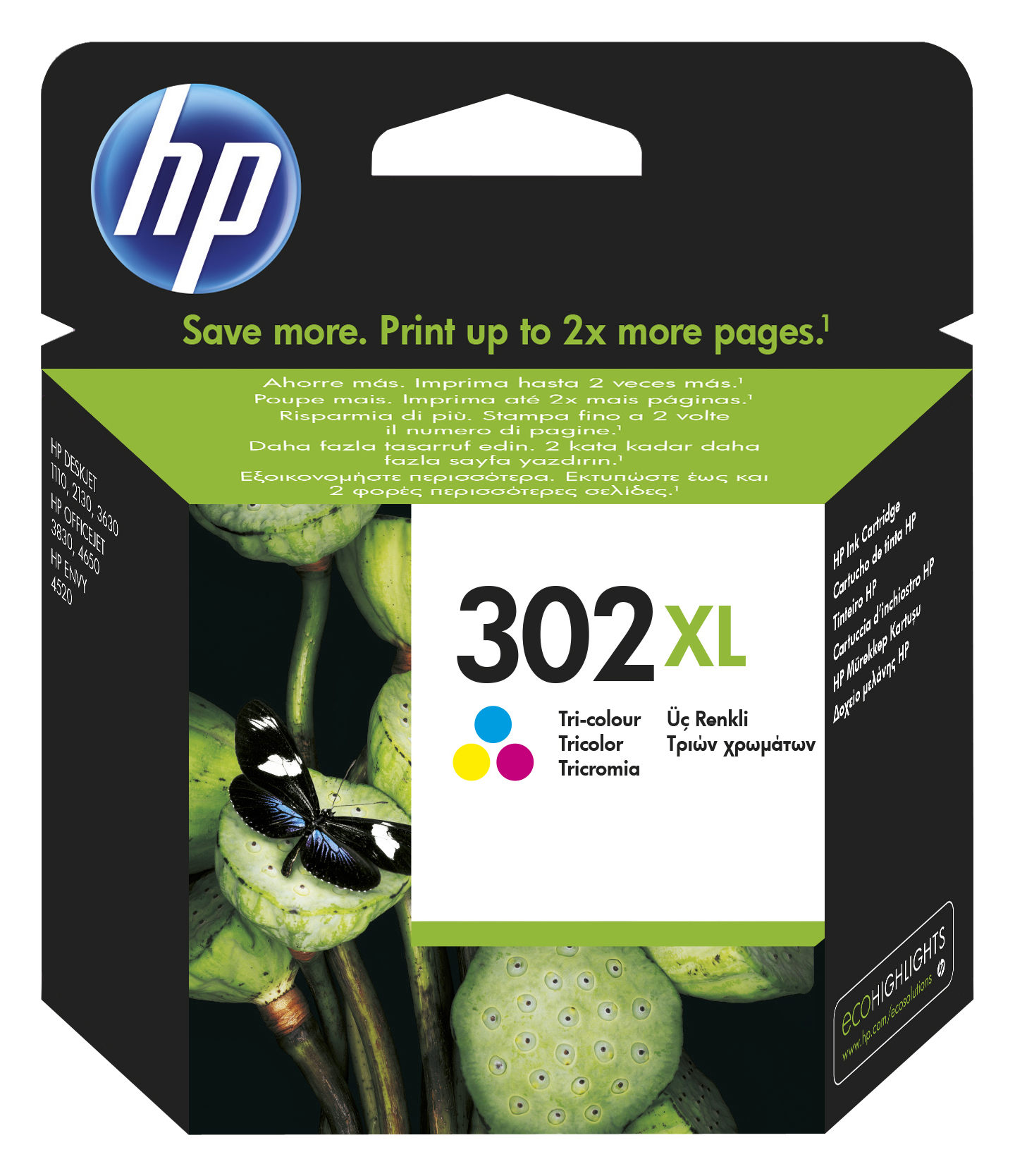 302XL inkjetcartridge kleur