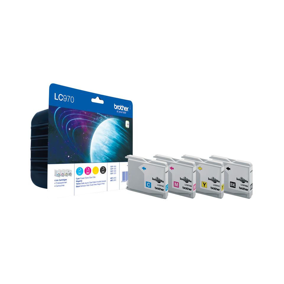 LC970 inkjetcartridges Valuepack (zwart, cyaan, magenta en geel)
