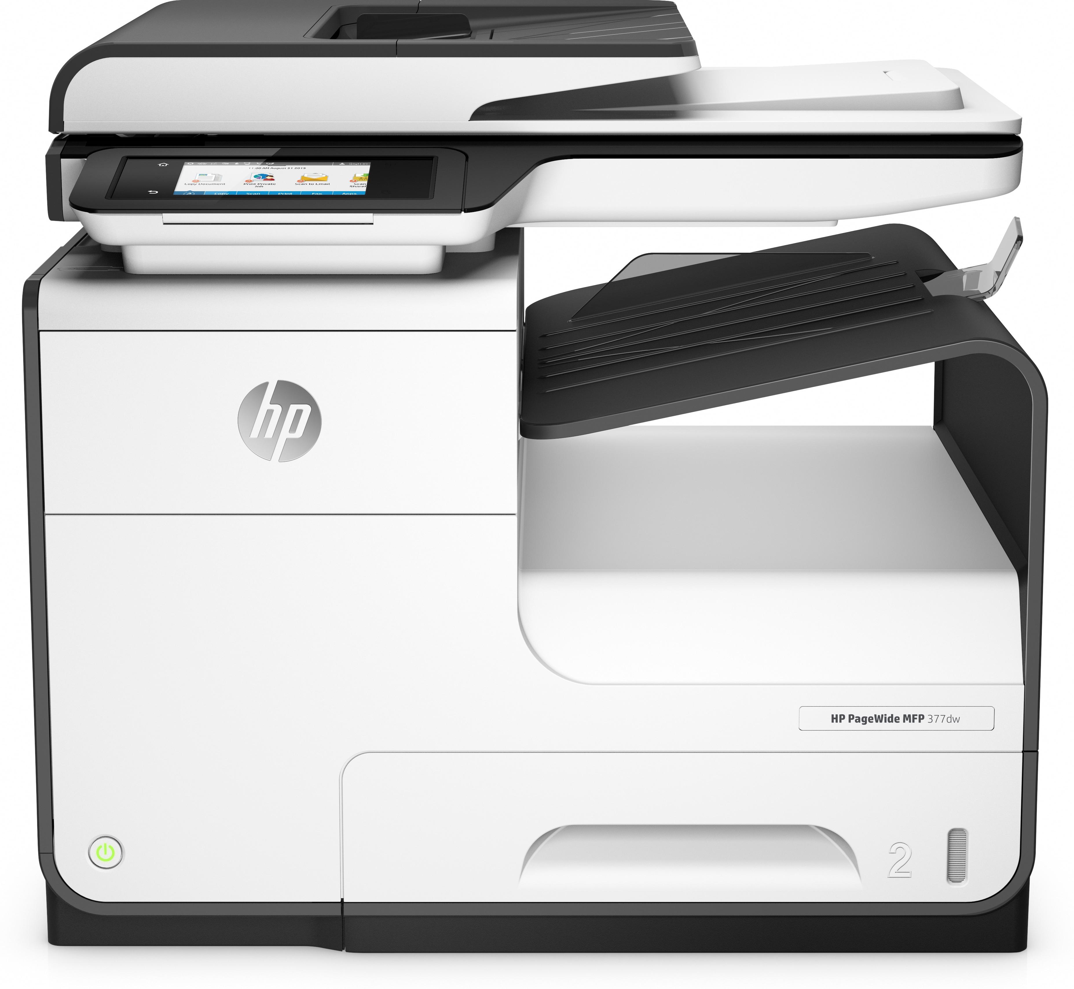 PageWide MFP 377dw Multifunction printer (A4, 45 ppm, USB 2.0, LAN, Wi-Fi, NFC)