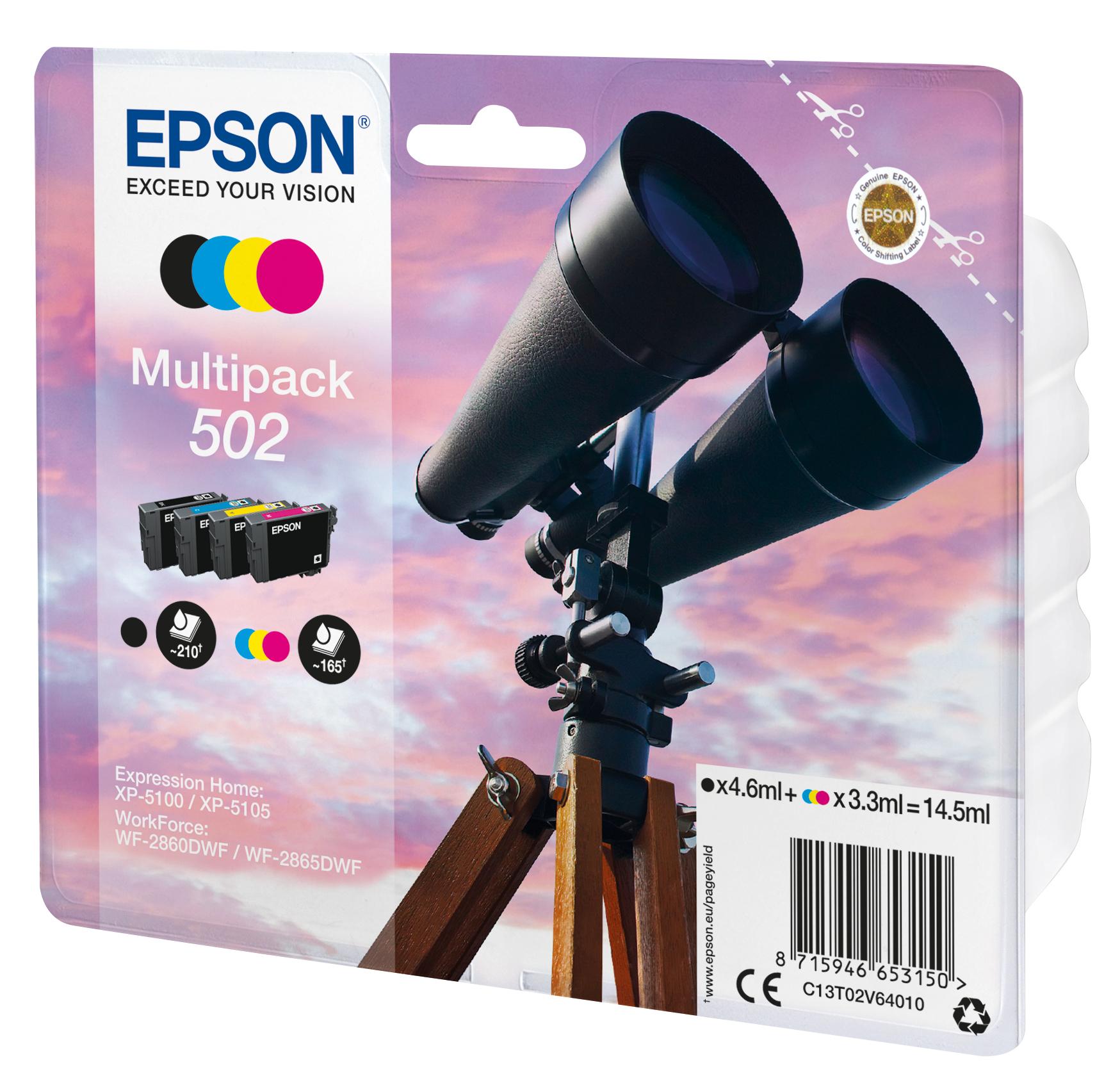 T02V6 inkjetcartridges 502 multipack