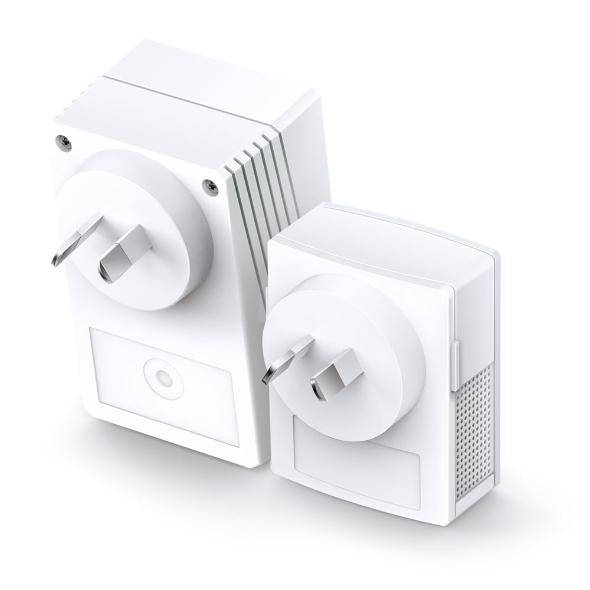 TL-WPA4221 KIT Powerline AV600 Extender Starter Kit (HomePlug AV, IEEE 1901, 802.11b/g/n, wall-pluggable)