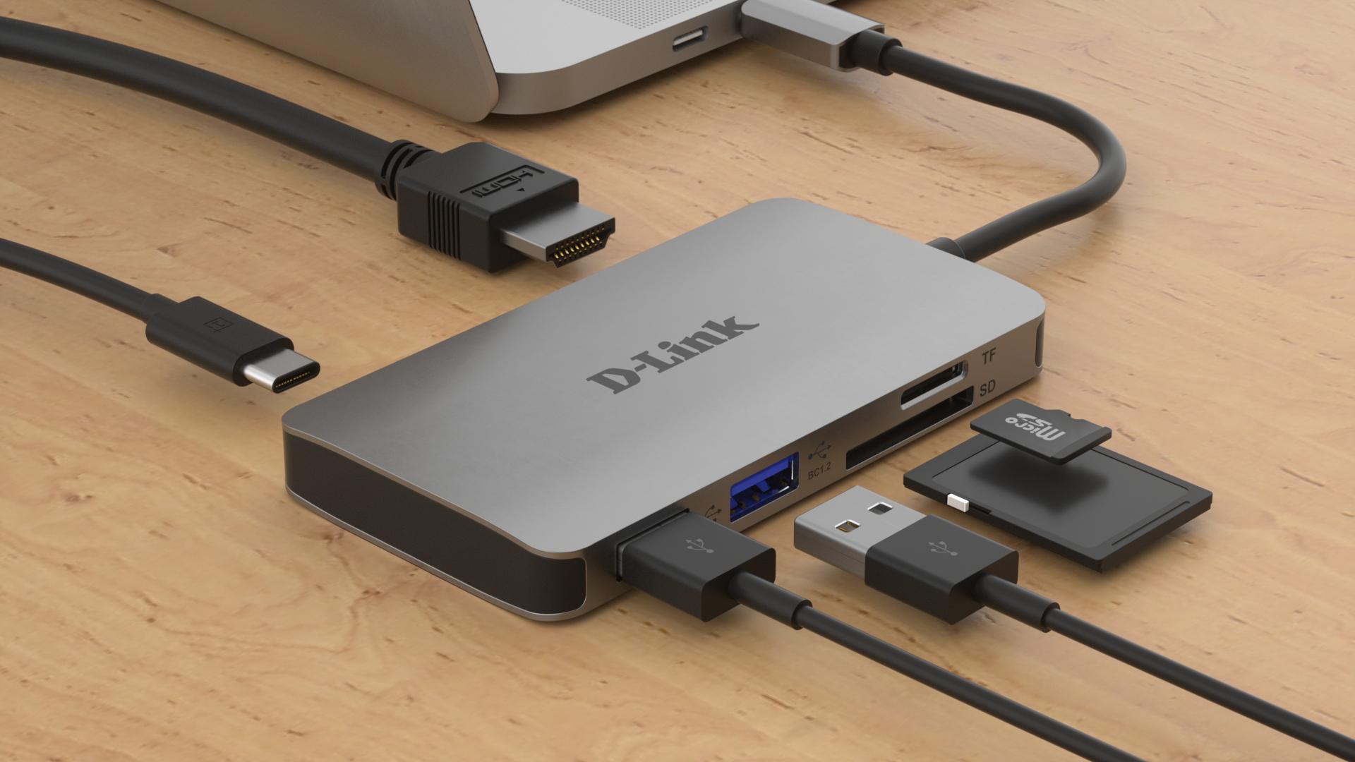 DUB-M610 6-in-1 USB-C Hub (HDMI, cardreader, stroom)
