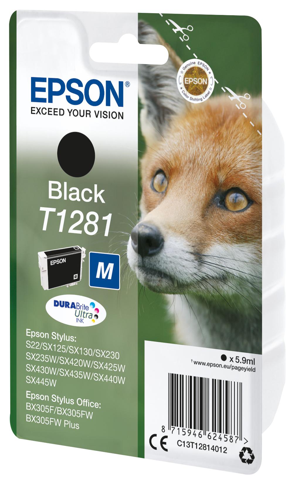 T1281 inkjetcartridge zwart (170 afdrukken)