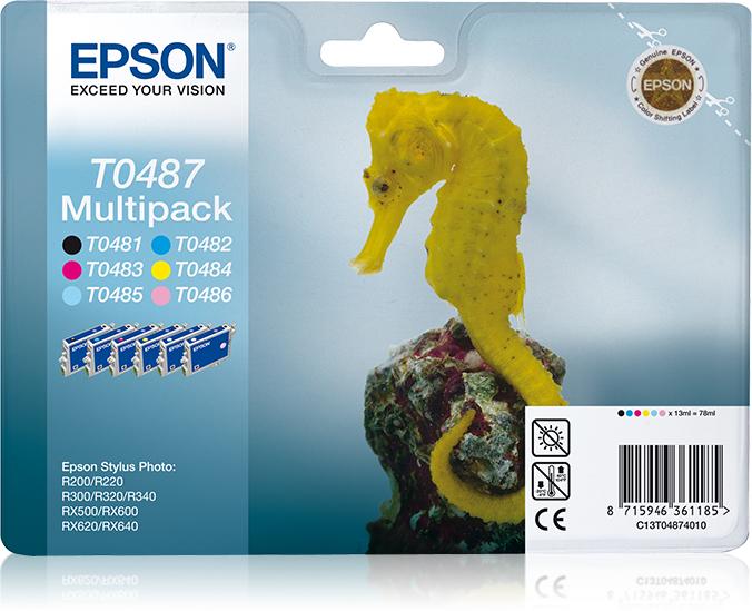 T0487 inkjetcartridge kleur (multipack, CMYKLmLc)