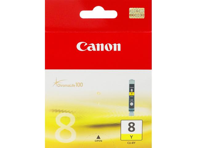 CLI-8Y inkjetcartridge geel (13 ml, 490 afdrukken)